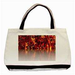 Effect Pattern Brush Red Orange Basic Tote Bag (Two Sides)