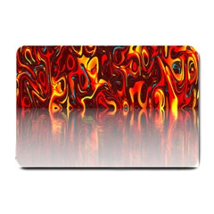 Effect Pattern Brush Red Orange Small Doormat