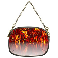 Effect Pattern Brush Red Orange Chain Purses (one Side)