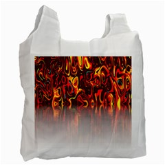 Effect Pattern Brush Red Orange Recycle Bag (two Side)