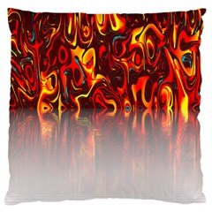 Effect Pattern Brush Red Orange Large Cushion Case (One Side)