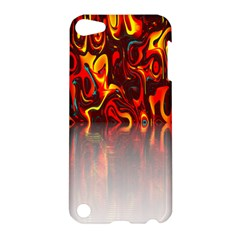 Effect Pattern Brush Red Orange Apple iPod Touch 5 Hardshell Case