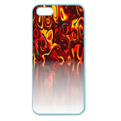 Effect Pattern Brush Red Orange Apple Seamless Iphone 5 Case (color)