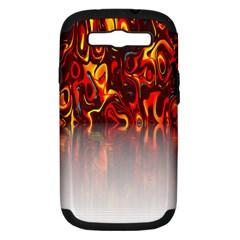 Effect Pattern Brush Red Orange Samsung Galaxy S III Hardshell Case (PC+Silicone)