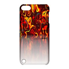 Effect Pattern Brush Red Orange Apple Ipod Touch 5 Hardshell Case With Stand