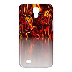 Effect Pattern Brush Red Orange Samsung Galaxy Mega 6 3  I9200 Hardshell Case