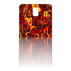 Effect Pattern Brush Red Orange Samsung Galaxy Note 3 N9005 Hardshell Back Case