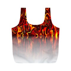 Effect Pattern Brush Red Orange Full Print Recycle Bags (m)