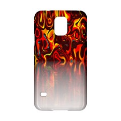 Effect Pattern Brush Red Orange Samsung Galaxy S5 Hardshell Case