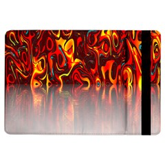 Effect Pattern Brush Red Orange Ipad Air Flip
