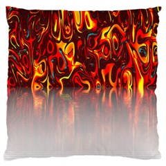 Effect Pattern Brush Red Orange Large Flano Cushion Case (one Side)