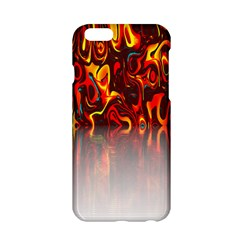 Effect Pattern Brush Red Orange Apple Iphone 6/6s Hardshell Case