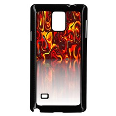 Effect Pattern Brush Red Orange Samsung Galaxy Note 4 Case (black)
