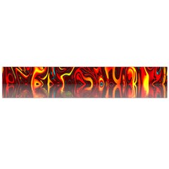 Effect Pattern Brush Red Orange Flano Scarf (large)