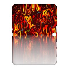 Effect Pattern Brush Red Orange Samsung Galaxy Tab 4 (10 1 ) Hardshell Case