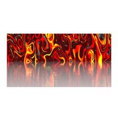 Effect Pattern Brush Red Orange Satin Wrap