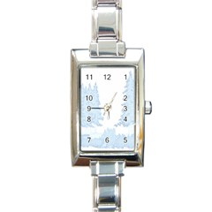 Winter Snow Trees Forest Rectangle Italian Charm Watch