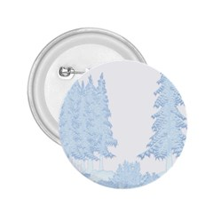 Winter Snow Trees Forest 2.25  Buttons