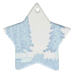 Winter Snow Trees Forest Ornament (star)