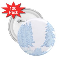Winter Snow Trees Forest 2 25  Buttons (100 Pack)
