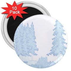 Winter Snow Trees Forest 3  Magnets (10 Pack)
