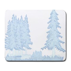 Winter Snow Trees Forest Large Mousepads