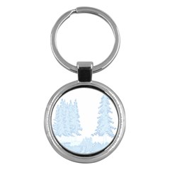 Winter Snow Trees Forest Key Chains (round)