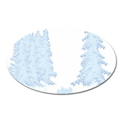 Winter Snow Trees Forest Oval Magnet