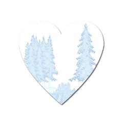 Winter Snow Trees Forest Heart Magnet