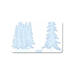 Winter Snow Trees Forest Magnet (name Card)