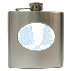 Winter Snow Trees Forest Hip Flask (6 oz)