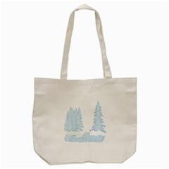 Winter Snow Trees Forest Tote Bag (cream)