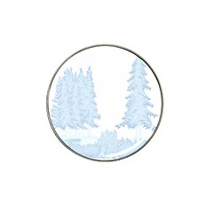 Winter Snow Trees Forest Hat Clip Ball Marker (10 Pack)