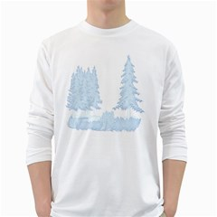 Winter Snow Trees Forest White Long Sleeve T Shirts