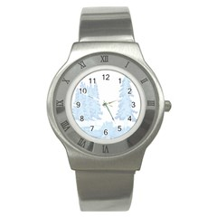 Winter Snow Trees Forest Stainless Steel Watch