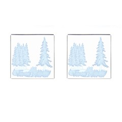 Winter Snow Trees Forest Cufflinks (square)