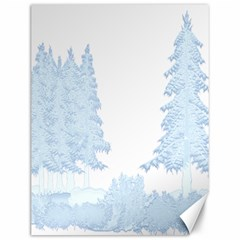 Winter Snow Trees Forest Canvas 12  x 16