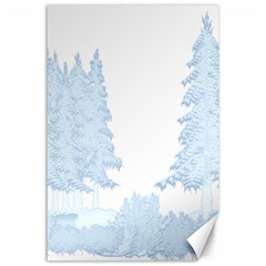 Winter Snow Trees Forest Canvas 24  x 36