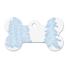 Winter Snow Trees Forest Dog Tag Bone (two Sides)