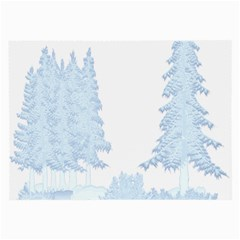 Winter Snow Trees Forest Large Glasses Cloth