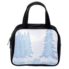 Winter Snow Trees Forest Classic Handbags (one Side)