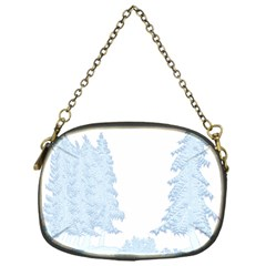 Winter Snow Trees Forest Chain Purses (one Side)