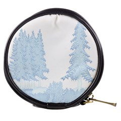 Winter Snow Trees Forest Mini Makeup Bags