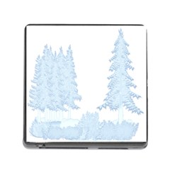 Winter Snow Trees Forest Memory Card Reader (square)