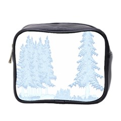 Winter Snow Trees Forest Mini Toiletries Bag 2 Side