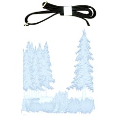 Winter Snow Trees Forest Shoulder Sling Bags