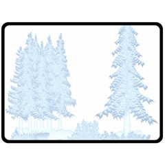 Winter Snow Trees Forest Fleece Blanket (large)