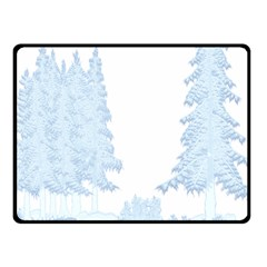 Winter Snow Trees Forest Fleece Blanket (small)
