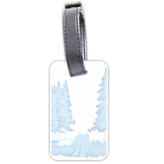 Winter Snow Trees Forest Luggage Tags (Two Sides)