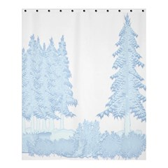 Winter Snow Trees Forest Shower Curtain 60  X 72  (medium)
